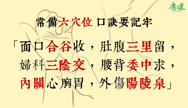 6大穴止痛,記好口訣一輩子受用 - 康健雜誌173期