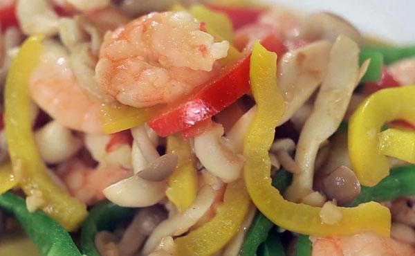 彩椒蝦仁鮮菇 健康便當菜