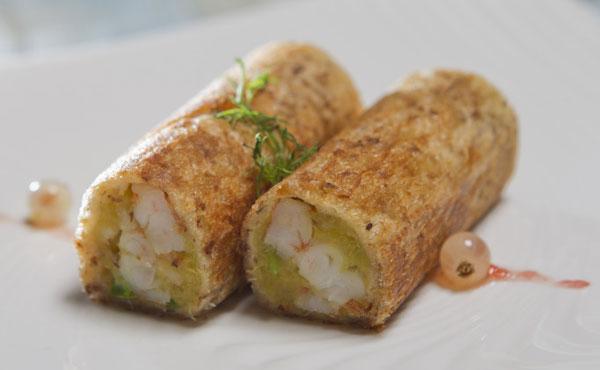 黃金薯鮮蝦全麥捲