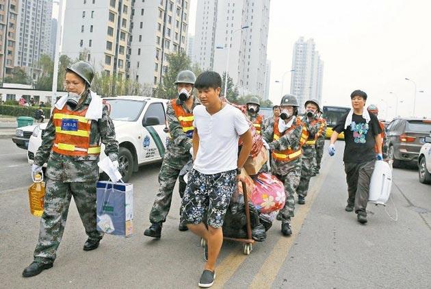 天津爆炸區 測出神經毒氣