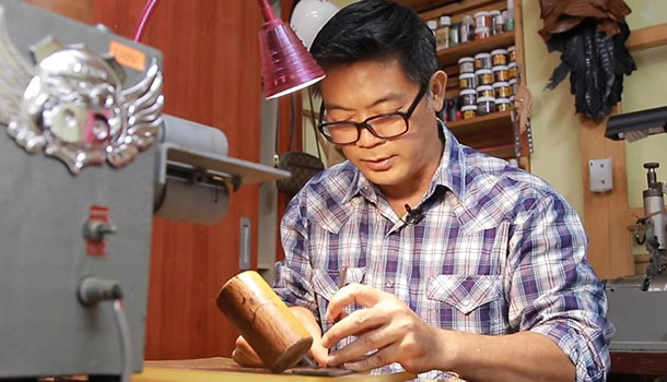 中年夢想家│飛官的華麗轉身,皮雕藝術找到人生的最初