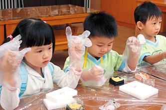 土城‧手信坊創意和菓子文化館 小小孩也能當製菓師傅