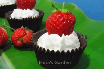 草莓甜心巧克力杯