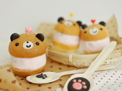 親子派對/冰淇淋漢堡熊