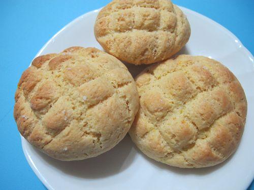 小魚媽:甜點食譜-鬆餅菠蘿包