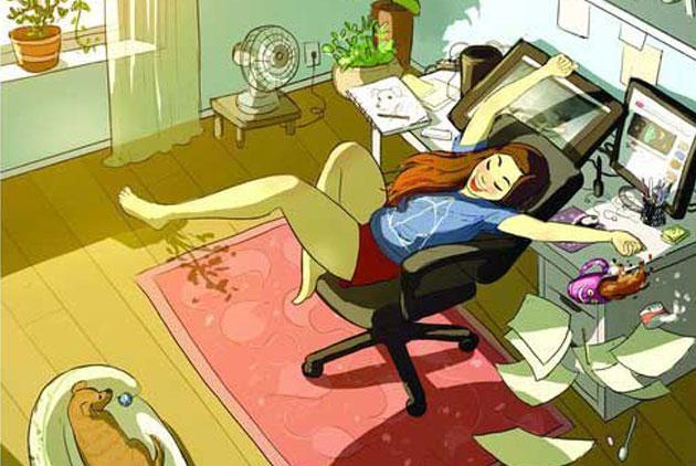 獨處發懶計畫!單身插畫集:「沒有人能阻止我討好自己」