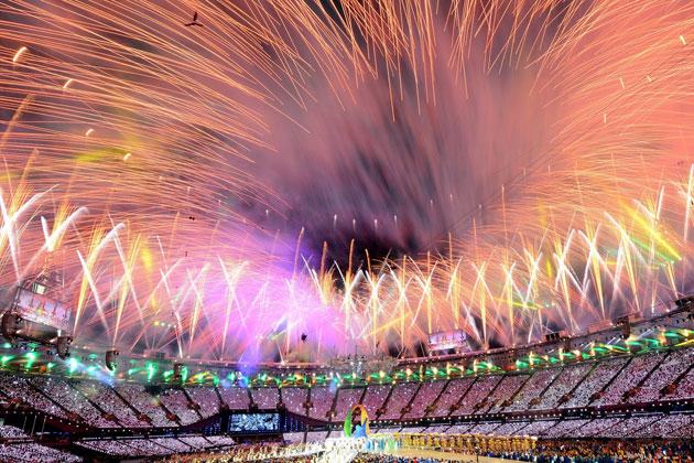 圖片故事/倫敦奧運閉幕典禮花絮