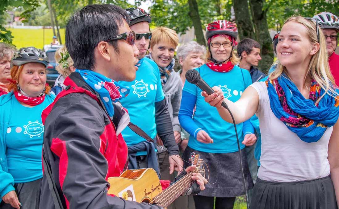 我在愛沙尼亞,大聲唱出〈向前走〉,大聲說出我來自台灣!