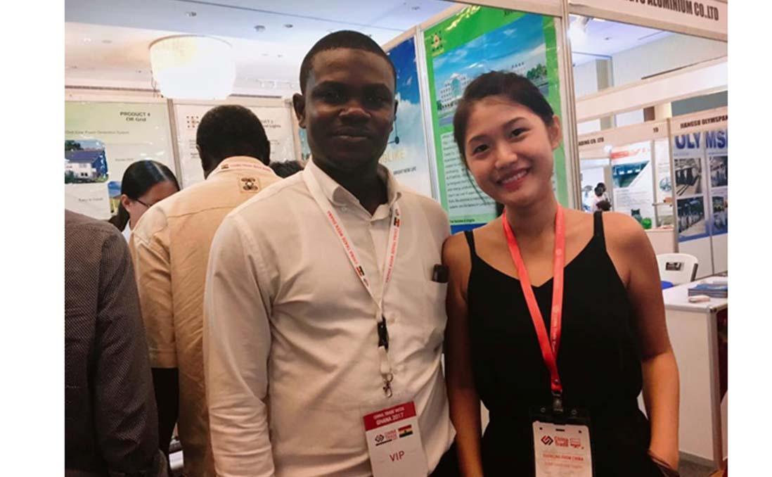 在阿克拉舉行的中國貿易週,來自中國許多的廠商來參展。圖/阿心